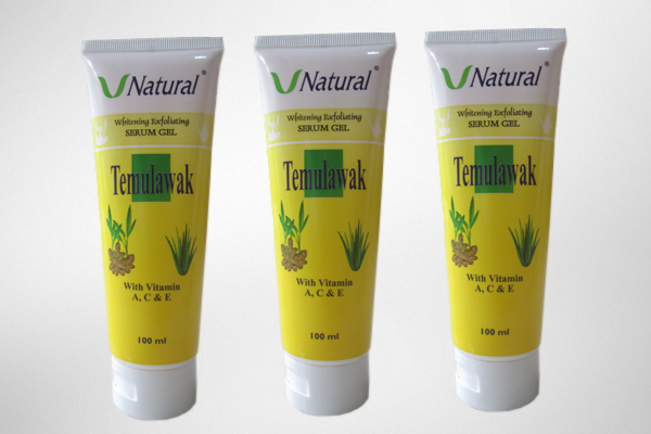 Temulawak whitening exfoliating serum gel